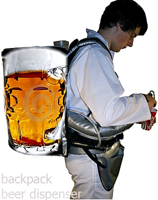 backpack beer dispenser