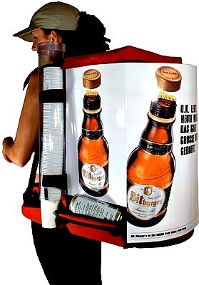 backpack for beer bottle and cans