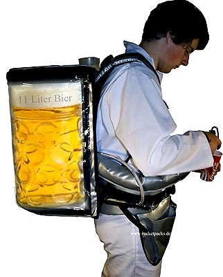 selling with the beer dispensing backpack