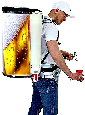 mobile beerbackpack
