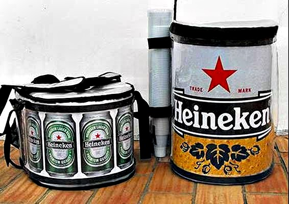 heineken beer bag accesoire